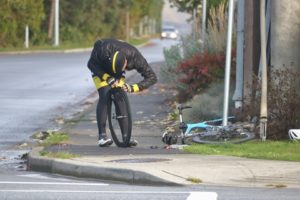skifte sykkelslange syklist flatt dekk